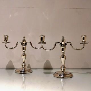 20th Century Modern Sterling Silver Pair Candelabra London 1964 C.J Vander Ltd