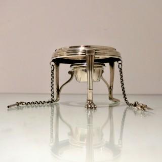 19th Century Antique Victorian Sterling Silver Tea Kettle on Stand Birmingham 1874 Frederick Elkington
