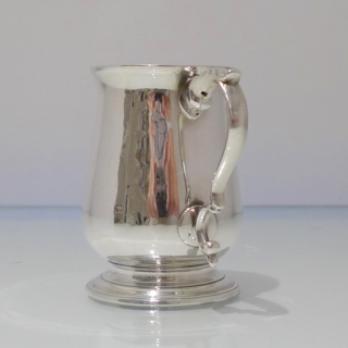 Antique George III Sterling Silver Christening Mug London 1785 Hester Bateman