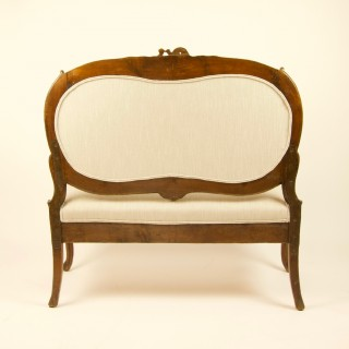 Italian 18th Century Rococo Carved Walnut Sofa or Canape