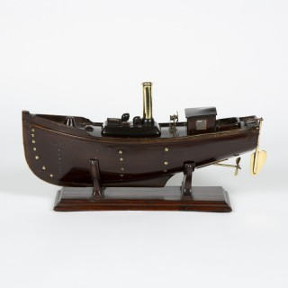 MODEL OF A CLYDE PUFFER STEAMBOAT CIRCA 1910
