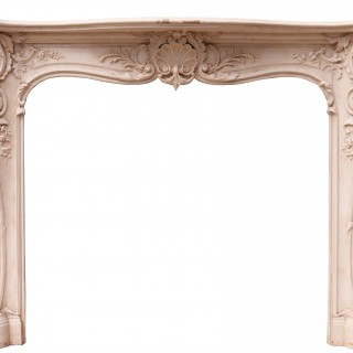 A 19th Century English Rococo Style Fire Surround
