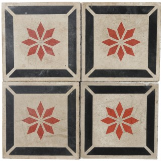 Reclaimed Patterned Encaustic Floor Tiles 2.6 m2 (28 sq ft)