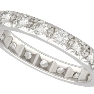 0.52 ct Diamond and Platinum Full Eternity Ring - Vintage Circa 1950