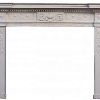 A Neoclassical Style Painted Fire Surround