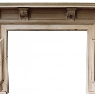 A Victorian Carved Pine Fire Surround
