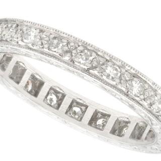 0.27 ct Diamond and Platinum Full Eternity Ring - Vintage Circa 1950