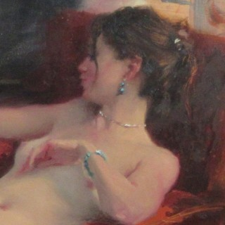Seated Nude, Red Chair II