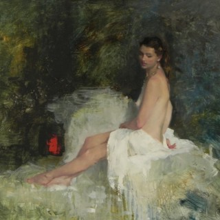Seated Nude on the Diagonal