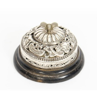 Antique Victorian Sterling Silver Call Desk Table Bell, W Comyns London 1902