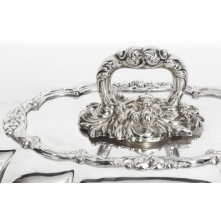 Antique Victorian Silver Plated Tureen Entree Dish c 1870 19th Cent