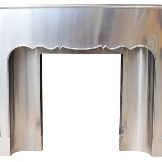 A 1920s Art Deco Stainless Steel Fireplace