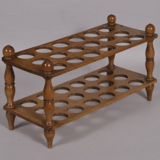 Antique Treen Late Victorian Sycamore Egg Stand