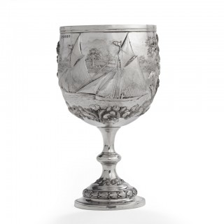 A Lake Windermere Yacht Club racing trophy, 1864