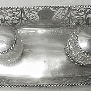 Antique Silver Inkstand