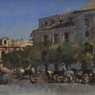 Carriages & Orange Trees, Seville