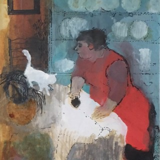 'Help with the Ironing' by Joan Beale (born 1926)