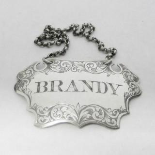 Victorian Silver Brandy Label