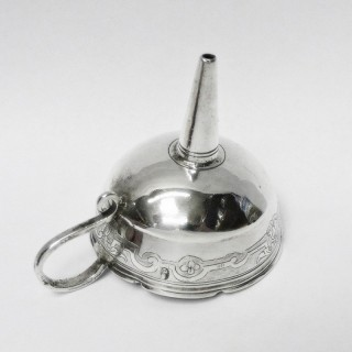 Antique German Silver Spirit Funnel