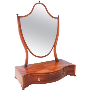 Large 18th Century Georgian Mahogany Dressing Table Mirror