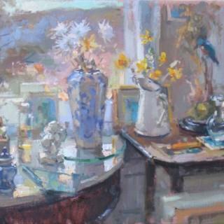 Studio Window with Kingfisher