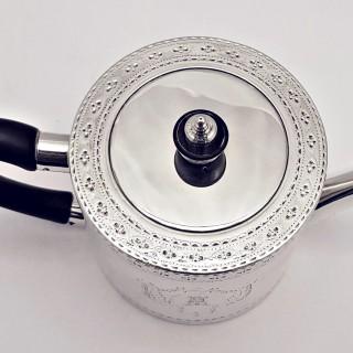 George III Silver Drum Teapot