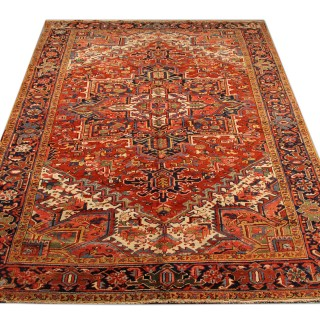 Antique Persian Heriz Rug 333x232
