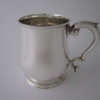 Antique George V Sterling silver mug