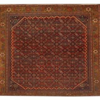 Antique Mahal Square Persian Rug