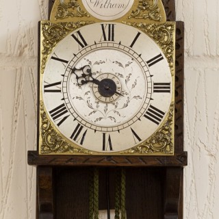 George II Small Hook and Spike Wall Clock by Mark Draper, Whitam