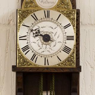 George II Small Hook and Spike Wall Clock by Mark Draper, Whitam