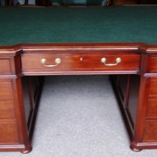 Large, English  Victorian  Period,  Mahogany Partners Desk