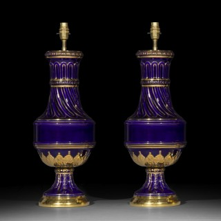 Pair of Antique Goût Grec Vase Table Lamps