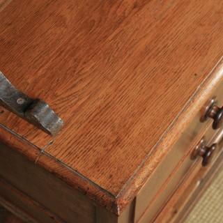 Antique Welsh Georgian Oak Dresser Base Sideboard Potboard & Rack (Circa 1810)