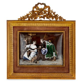 French Limoges enamel scene after Ferdinand Roybert