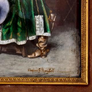 French Limoges enamel scene after Ferdinand Roybert
