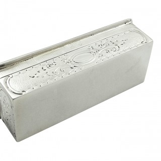 Antique Victorian Sterling Silver Trinket Box 1896