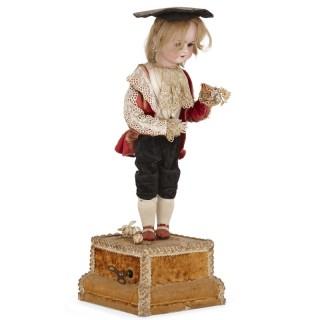 Unusual bisque porcelain automaton figure