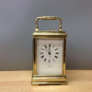 French Brass Cased Carriage Clock by Margaine, Paris