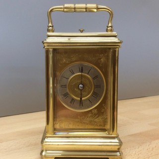 French Brass Cased Repeating Carriage Clock