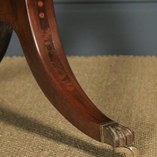"Antique English Georgian Regency 4ft 6"" Mahogany & Leather Library Desk Sofa Table (Circa 1820)"