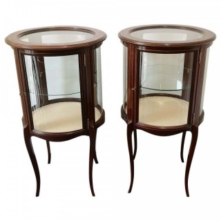 Pair of Victorian Mahogany Display Cabinets