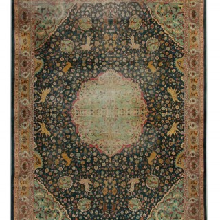 Rare Antique Indian Agra Rug