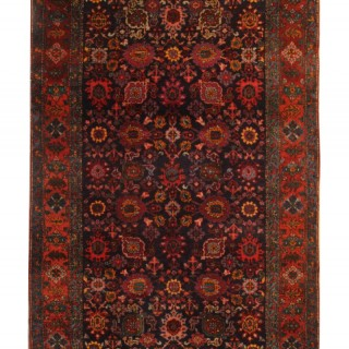 Rare Antique Primitive Bidjar Rug