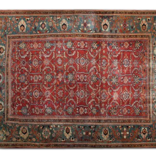 Rare Antique Primitive Bidjar Rug