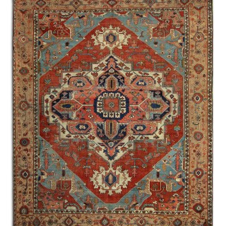 Rare Antique Persian Serapi Heriz Rug