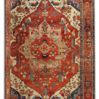 Antique Persian Serapi Carpet Rug