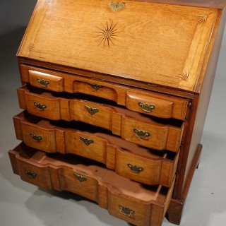 A Rare 18th Century Dutch Bombe Fronted Bureau.