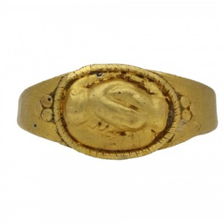 Ancient Roman fede betrothal ring, circa 1st-3rd century AD.