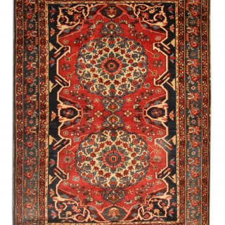 Antique Rug Persian Bakhtiyar Carpet